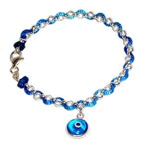 The Ribband Of Blue String Bracelet Talit Clips