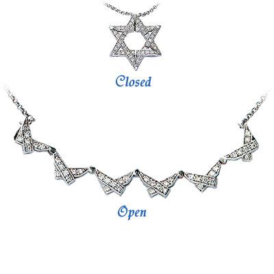 18k gold star of david pendant set with diamonds aloadofball Choice Image