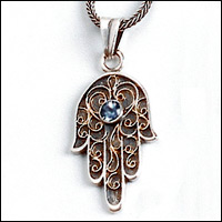 Silver and Gold hamsa