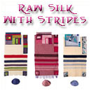 Raw Silk Tallit With Stripes