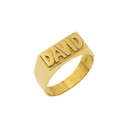 Fabulous 14K GOLD NAME RING - LETTERS RAISE LQ37